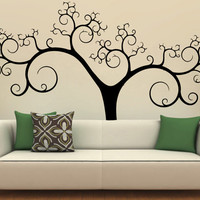 Huge Big Tree Applique Abstract Vinyl Decal Wall Sticker Furniture Removable Art Decal Decor! Free shipping! Give Your Bedroom Some Love !