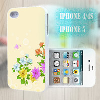 unique iphone case, i phone 4 4s 5 case,cool cute iphone4 iphone4s 5 case,stylish plastic rubber cases cover, yellow elegant  floral  bp2925
