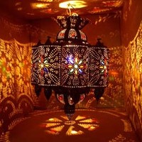 Rustic lamps: rustic moroccan lamps, hanging rustic metal lamps, moroccan lighting, moroccan lanterns, moroccan wall sconce, metal sconces