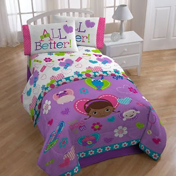 Disney Doc McStuffins Doc and Friends Sheet Set, Twin