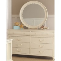My Home Emily Dresser And Mirror Set In Khaki White