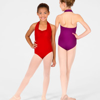 Free Shipping - Child Double Halter Leotard by MOTIONWEAR