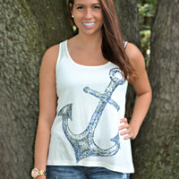 Refuse to Sink Tank Top - White