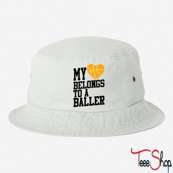 my heart belongs to a baller bucket hat