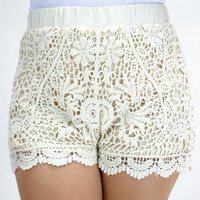Dream Estate Floral Crochet Shorts