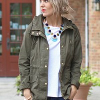 Hooded Army Jacket-PPLA Abbey Road Anorak-$88.00 | Hand In Pocket Boutique
