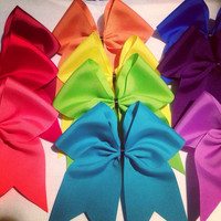 Pack of 5 Solid Grosgrain Cheer Bows
