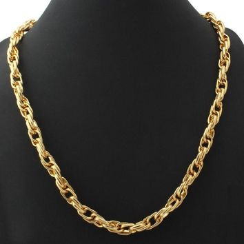"Necklaces ""18K"" Gold Stamp 18K Real Gold Plated 10MM 71CM / 55CM"