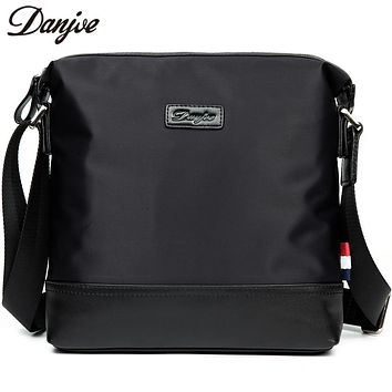 Cloth Cross Body Bag Male Leisure Waterproof Men Messenger Bag Fashion Zipper Daily Man Bag Vertical Travel Bags