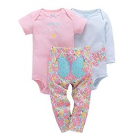3PCS Baby Girl Clothes Set