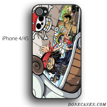 one piece captain jack sparrow case for iPhone 4[S]