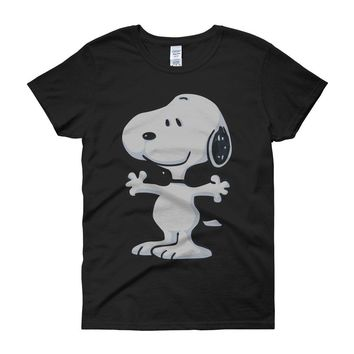 The Peanut Gang Happy Snoopy Women'S T Shirt