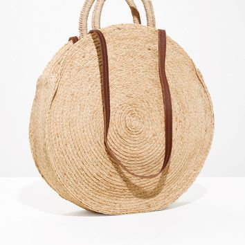 & Other Stories | Straw Circle Bag | Beige