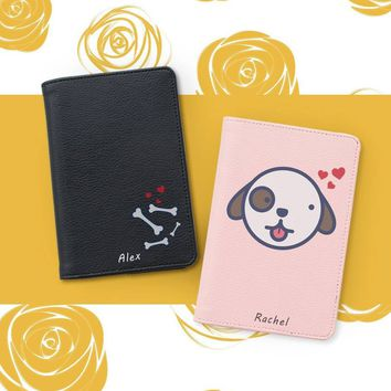 Cute Dog Couple Wallets