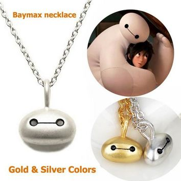 Big Hero 6 Baymax Necklace Gold Silver Plated