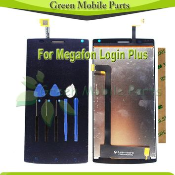 100%Tested 5.5 inch LCD Display For Megafon login plus LCD Display Digitizer Assembly MFLoginPh Login+ TOPSUN_G5247_A1