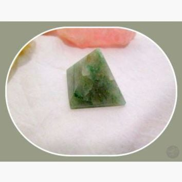 """Draw in the Luck"" Green Aventurine Pyramid"