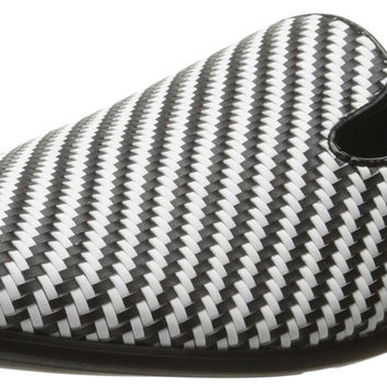 Giorgio Brutini Men's Cimron Slip-on Loafer White/Black 8.5 D(M) US '
