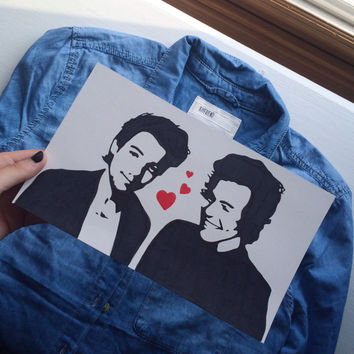 larry stylinson (louis tomlinson and harry styles) one direction pop art