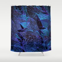 blue space structure Art Print by Bunny Noir