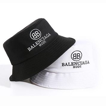 Balenciaga Stylish Women Men Letter Embroidery Shade Sunhat Fisherman Hat Cap(2-Color) I12421-1