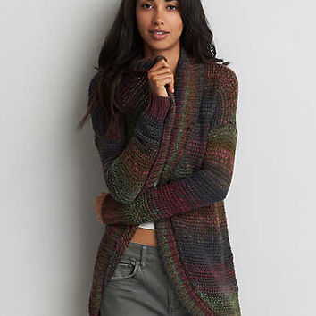 AEO Space Dyed Stripe Cardigan , Multi