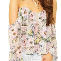 My Floral Chandelier Off Shoulder Top (more colors)