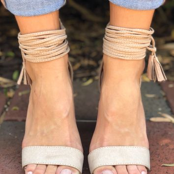 Night On The Town Heels- Taupe