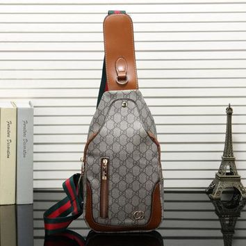 Gucci Women Leather Backpack Bookbag Daypack Satchel