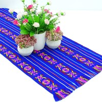 Mexican table runner, Royal Blue Table runner 14x72 Inches, Fiesta Decoration, Cinco de Mayo, Boho Chic Decor, 14X72TRC730
