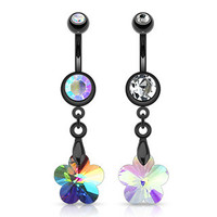 Belly Ring-Flower Prism