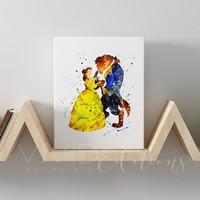 Beauty and the Beast Gallery Wrapped Canvas