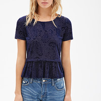 Ruffled Burnout Top