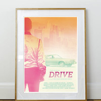 Drive Ryan Gosling Poster A3 or to fit Ikea Ribba Frame 390 x 290mm