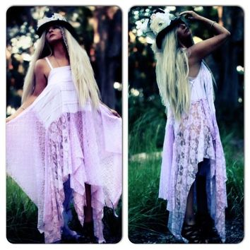 Boho Lace maxi dress, Stevie Nicks style gypsy spell summer maxi sundress, Boho dresses, True rebel clothing