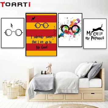 Classic Movies Harry Potter Glasses Poster&Prints Modern Home Decor Canvas Painting Wall Art Print Wall Picture For kids Bedroom