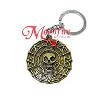 PIRATES Of THE CARIBBEAN Aztec Gold Coin Keychain