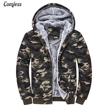 Camouflage Jacket Women/Men 2016 New Winter Camo Thick Slim Fit Velvet Coat Parka Men Wool Hat Design Jackets Mens Clothes M-4XL