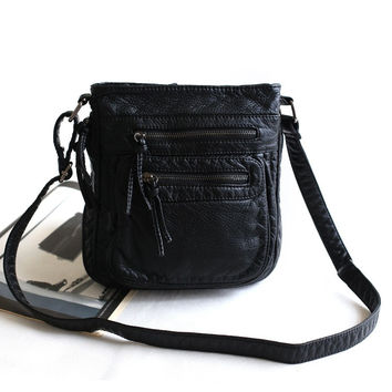 Rinsed Denim With Pocket Stylish Vintage Simple Design Phone Mini Bags Shoulder Bags [4915814212]