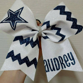 Custom cheer bow, Chevron cheer bow,you pick colors, team cheer bows, big softball bow, big cheer bow, glitter cheer bow, full glitter bow