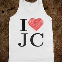 I love (jc) jesus christ tank
