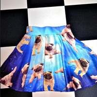 SWEET LORD O'MIGHTY! PUGS IN SPACE SK8R SKIRT