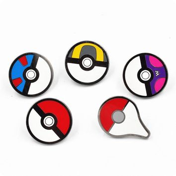 Brooches Anime Cute Harajuku Ball  Go Enamel Pin Badge Cameo Kids Boys Girls Game Movie Broszka Vintage EsmaltesKawaii Pokemon go  AT_89_9