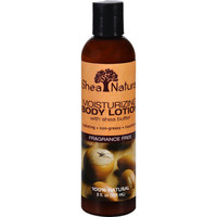 Shea Natural Body Lotion - Moisturizing - Fragrance Free - 8 Oz