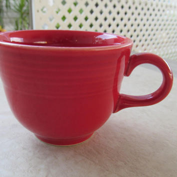 Homer Laughlin Fiesta, Fiestaware red cup, collectible gifts
