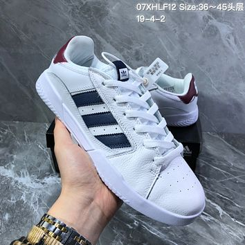 hcxx A1153 Adidas Vrx Low Classic Magic Sticking Antique Board Shoes White Wine Red