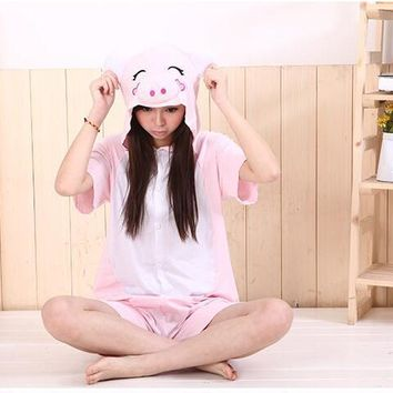 Summer New Four-color Hot Unicorn Tenma Unisex Kigurumi Pajamas Animal Cosplay Onesuit Sleepwear Robe cartoon pajamas