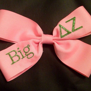 Delta Zeta Glittery Embroidered Big and Little by PutSomeGreekOnIt