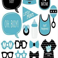 Oh Boy Photo Booth Props For Baby Shower - PRA129
