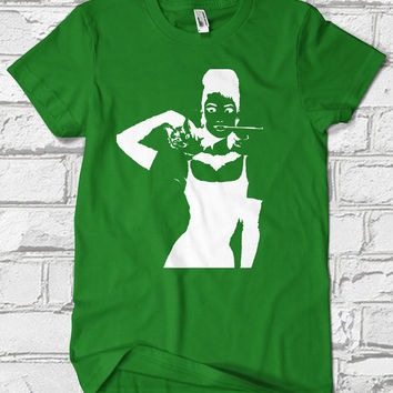 Audrey Hepburn, Custom T-shirt, print screen T-shirt, Awesome T-shirt for Men, Size s, m, l, xl, xxl, 3xl, 4xl, 5xl